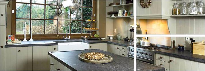 Belgisch hardstenen keukenbladen