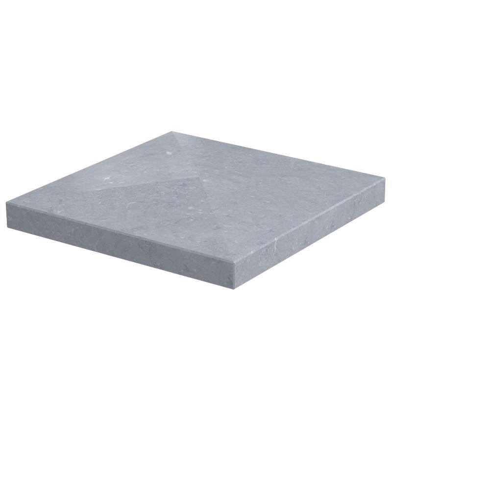 Pilaarpet 4-zijdig aflopend Ibis 400 x 400 x 60 mm Belgisch hardsteen (geschuurd)