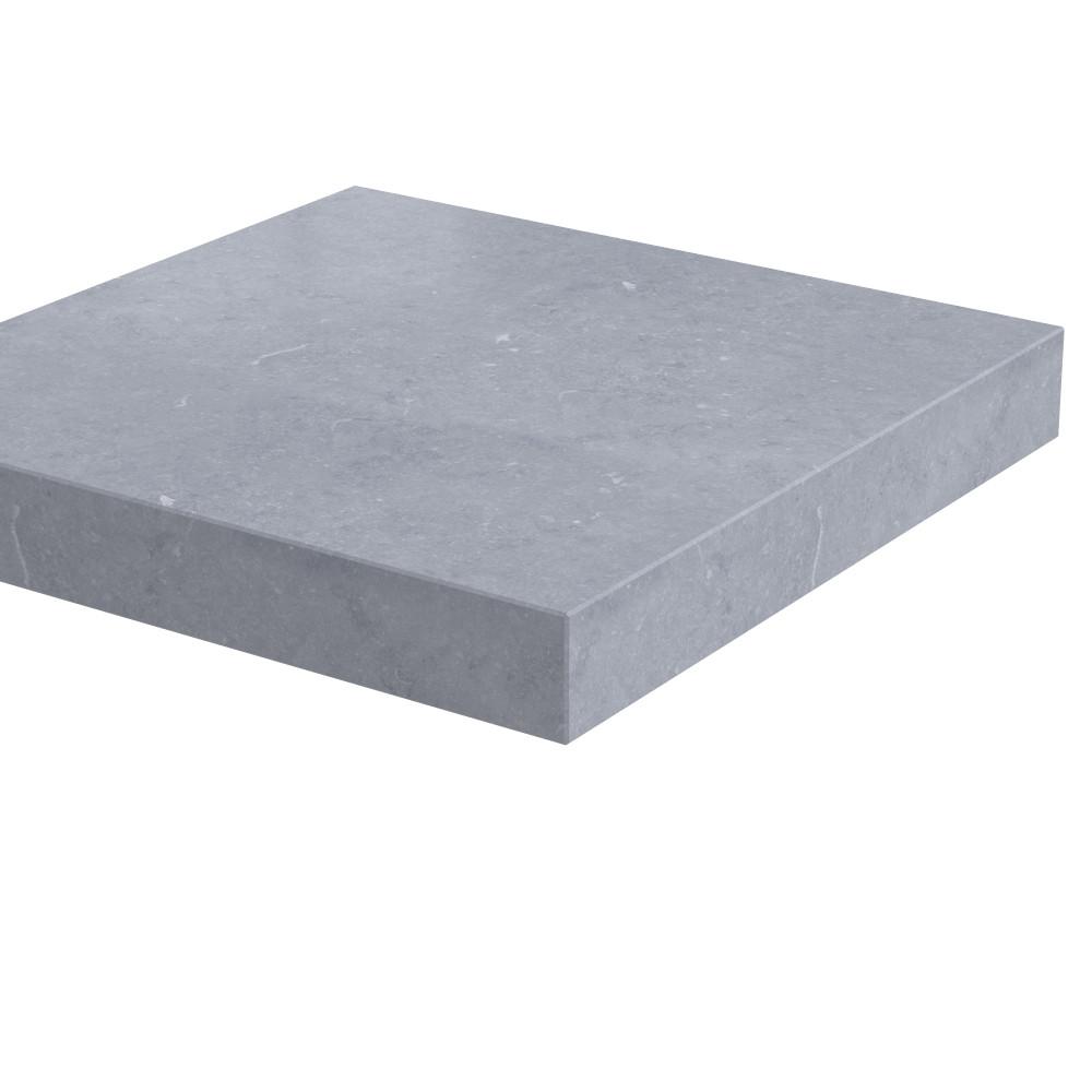 Pilaarpet vlak Lepelaar 80 mm dik Belgisch Hardsteen (geschuurd)
