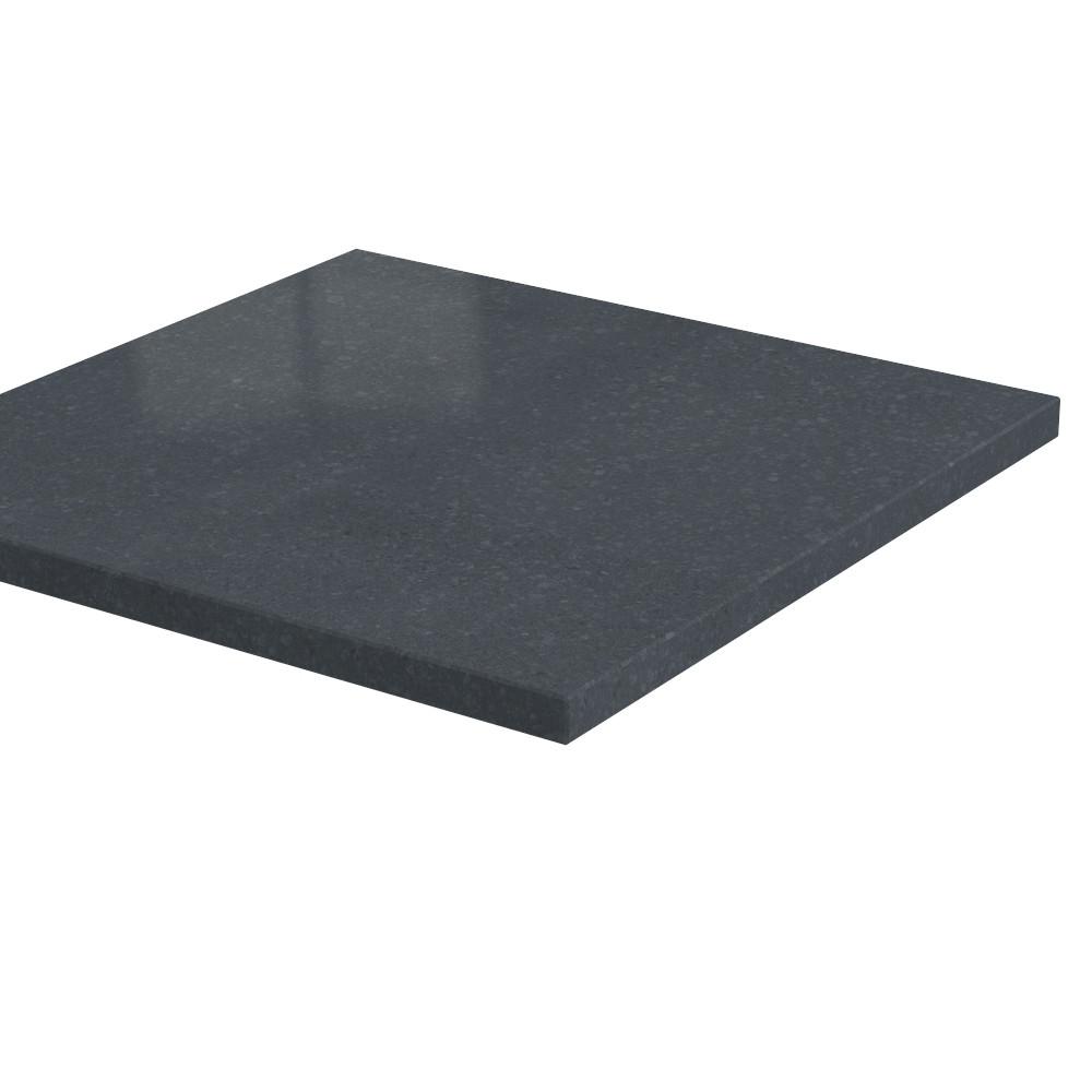 Pilaarpet vlak Lepelaar 30 mm dik Basalt (gezoet)