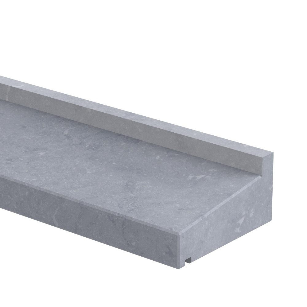 Raamdorpel profiel op maat 80 mm dik Belgisch hardsteen (geschuurd)
