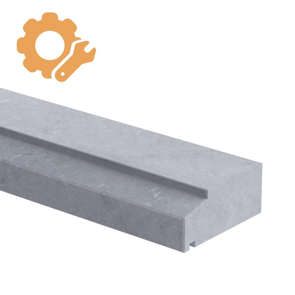 Spekband profiel op maat 60 mm dik Belgisch hardsteen (geschuurd)