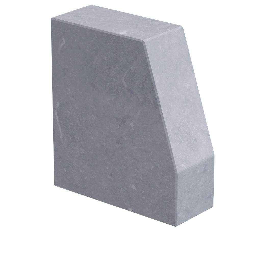 """Aanzetsteen """"Roek"""" 80 mm dik Belgisch hardsteen (geschuurd)"""