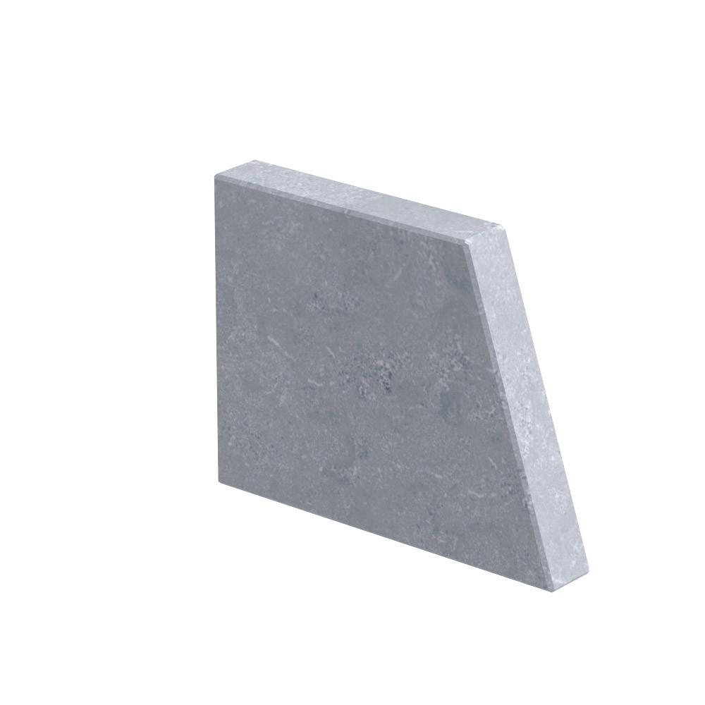 """Aanzetsteen """"Raaf"""" 30 mm dik Chinees hardsteen (geschuurd)"""