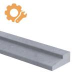 Deurdorpel profiel op maat 40 mm dik Belgisch hardsteen (geschuurd)